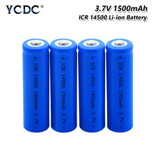 1/2 /4/8/10 sztuk/zestaw ICR 14500 1500mah 3.7 V akumulator litowo-jonowy akumulator litowo-jonowy do latarki Led reflektory