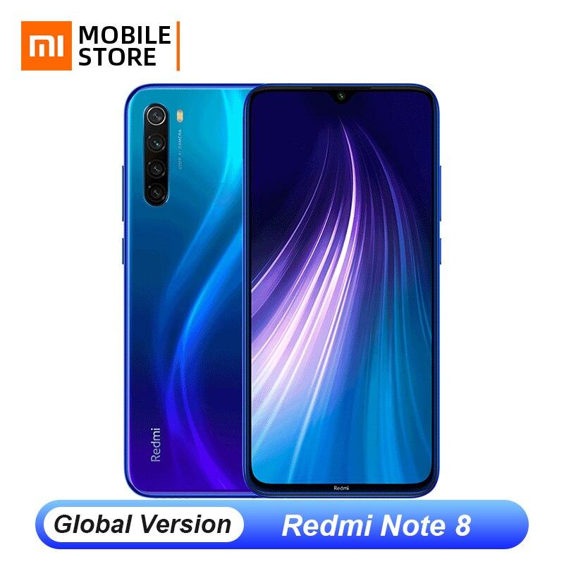 "Versão global xiaomi redmi nota 8 4 gb 64 gb 48mp quad câmera smartphone snapdragon 665 octa núcleo 6.3 ""fhd tela 4000 mah ufs 2.1"