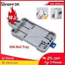 SONOFF DR DIN Rail лоток для Basic/RF/ Pow/ TH10/16/ Wifi Smart Switch DR DIN лоток рельсовый Чехол Держатель установленный Регулируемый Чехол для коробки