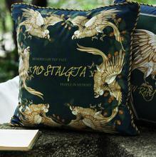 Luxury Cushion Cover Decorative Pillow Case Artistic Modern Bird Floral Geometric Print Velvet Sofa Chair Bedding Decor
