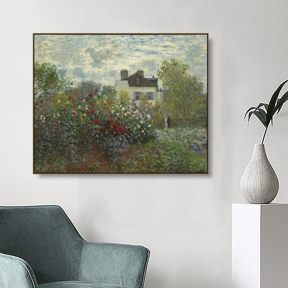 Garden In Argenteuil By Monet Wall Pictures Posters Print Canvas Painting Calligraphy Decor Picture For Living Room Home Decor