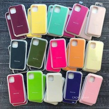 Original Official Silicone Case For iPhone 7 8 12 Mini XS X XR 6S Case For iPhone 11 XR SE 2020 6 7 Plus 12 Pro Max Full Cover