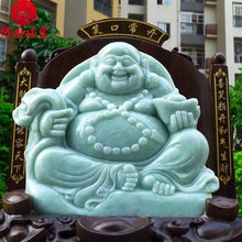 Hezhou jewelry!Myanmar natural jade!Buddha hand-carved decoration!Living room desk accessories! 15.32jins(China)