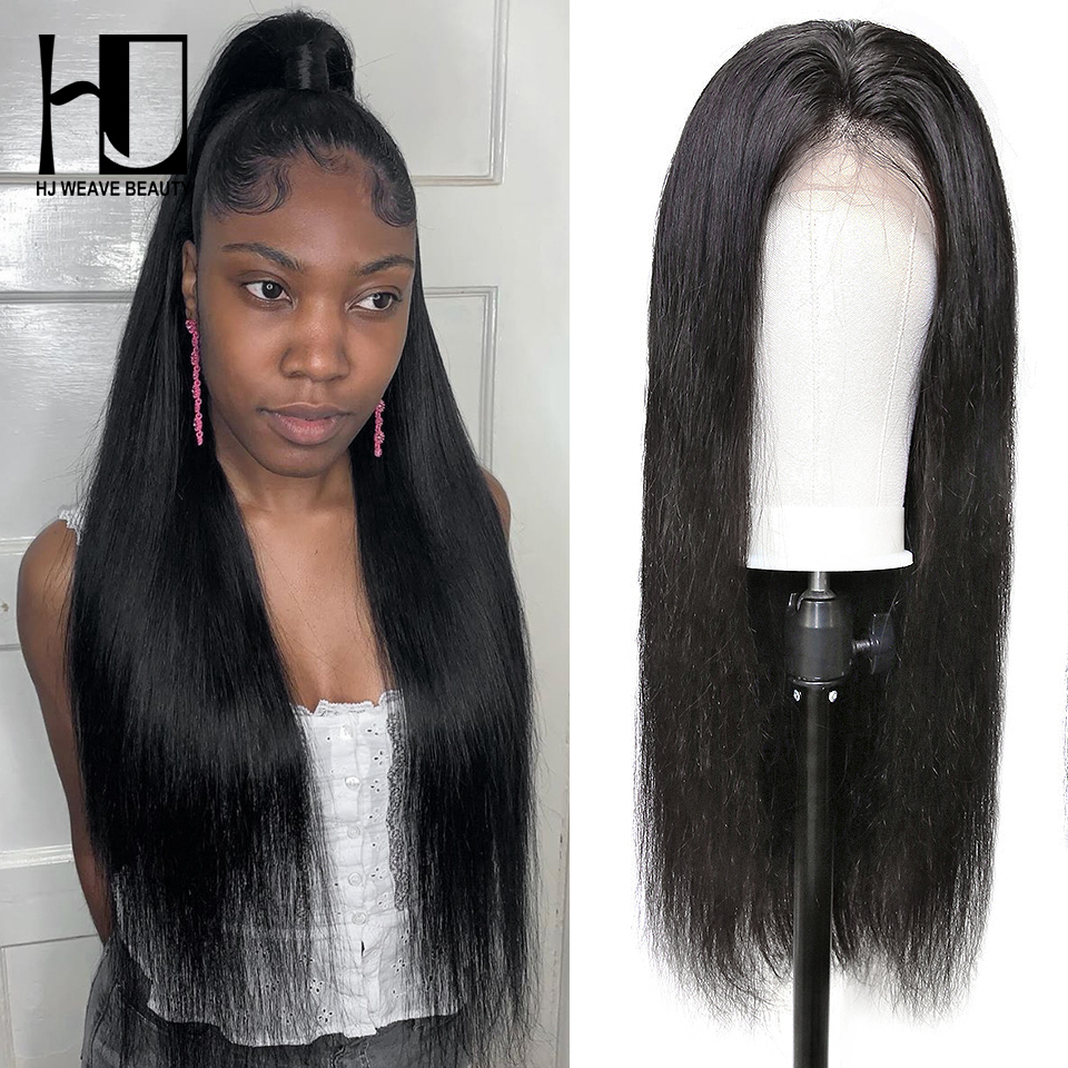 Lace Front Human Hair Wigs Virgin Hair 28inch 30inch Brazilian Straight Glueless Lace Front Wig With