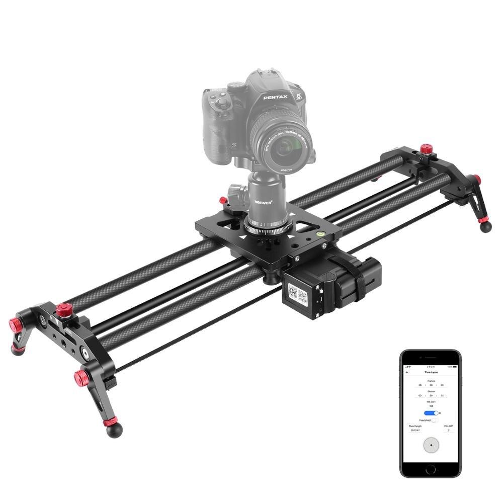 Neewer caméra curseur motorisé, 31.5 pouces APP contrôle Rail de chariot de piste en Fiber de carbone avec prise de vue vidéo en accéléré