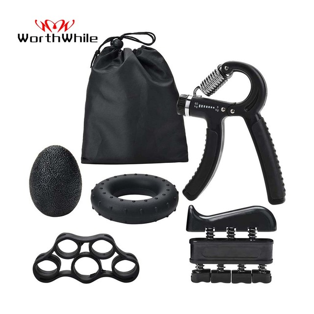 Adjustable Strength Relieve Pain Training Equipment Fitness Gym Hand Gripper Set