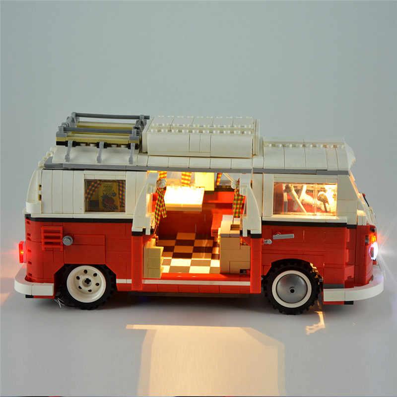 2020 חדש legoinglys 1354Pcs 10220 טכני סדרת פולקסווגן T1 חניך ואן דגם אבני בניין ערכות סט צעצועי לבנים 21001