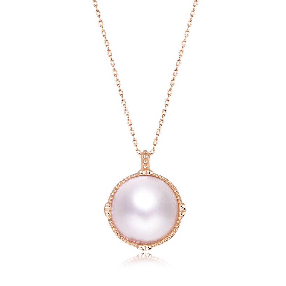 Ladies Luxury Handpicked AAA Freshwater Cultured Single Pearl Pendant Necklaces for Women Wedding Gift Jewelry 5