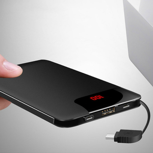 Image 3 - 10000mah แบตเตอรี่ PoverBank 2 USB Powerbank ชาร์จโทรศัพท์มือถือแบบพกพาสำหรับ