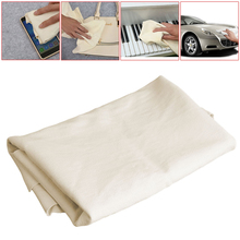 Asciugamani per la pulizia dellauto in pelle di camoscio naturale