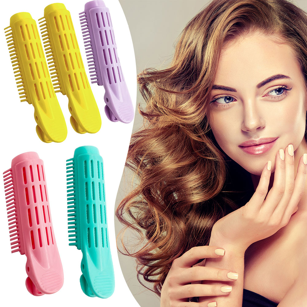 Hair Curler Clips Clamps Roots Perm Rods Styling Rollers Fluffy DIY Hair Tools