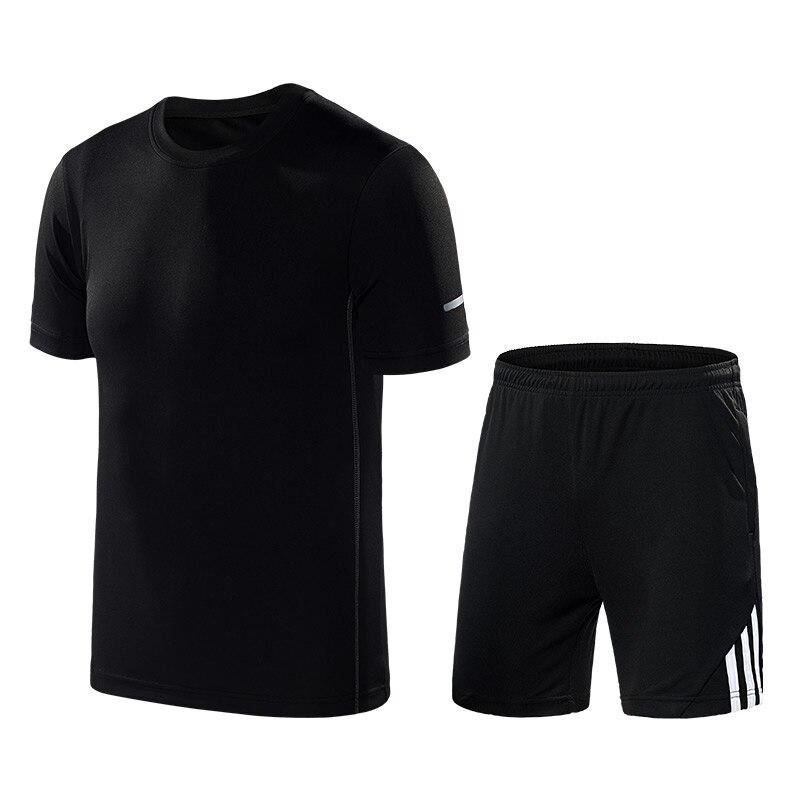 2020 Summer Sport Suit Men Striped Casual Tracksuit Male Ice Silk Sweat Suit Black Fashion Trend Men Set 5XL