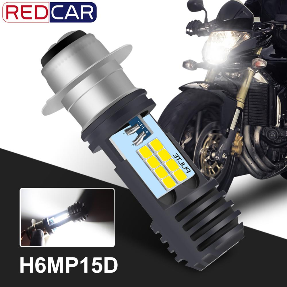 P15D H6M Motorcycle Headlight 16SMD 2835 Chips 4000Lm Universal Super Bright Motorbike Head Lamp Bulb Moto DRL Lights Hi Lo Lamp