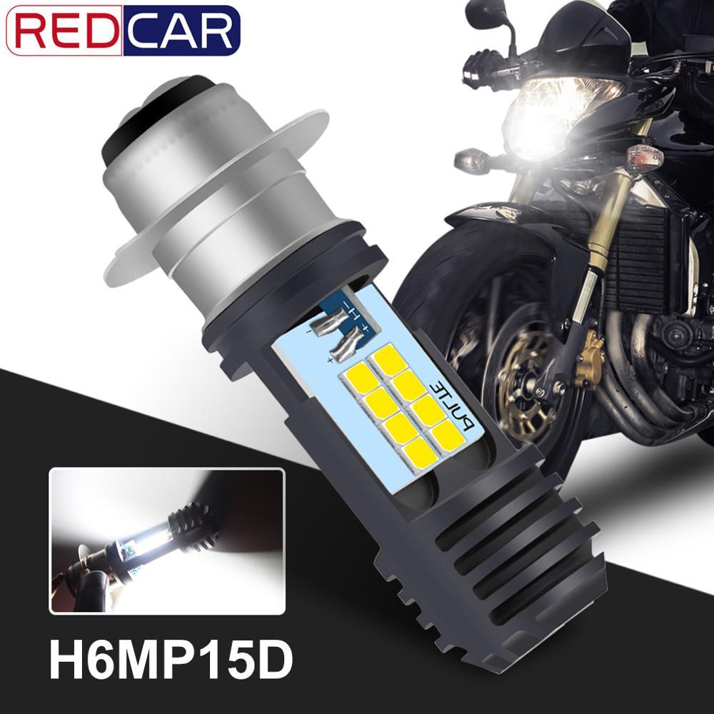 P15D H6M Motorcycle Headlight 16SMD 2835 Chips 4000Lm Universal Super Bright Motorbike Head Lamp Bulb Moto DRL Lights Hi Lo Lamp