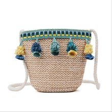 Children Bags for Girls Handbags Shoulder Baby Tassel Mini Bucket Kids Cute Knit Crossbody