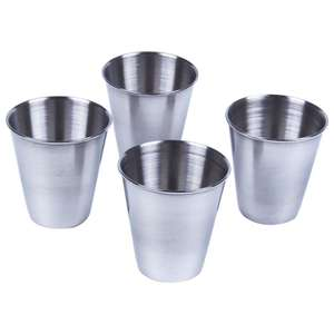 Drinking-Coffee Tumbler Black Tea Stainless-Steel Travel Camping New Cup Mug Silver 5pcs/Set