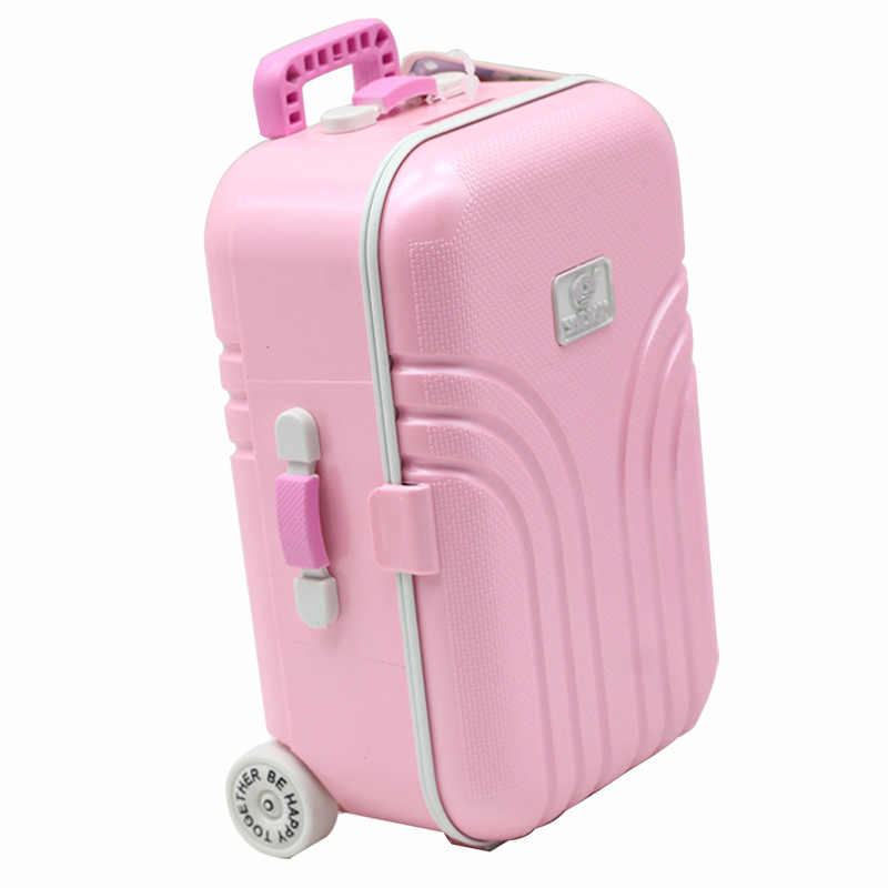"Pink/Silver/Orange Doll Box Suitcase For18"" American Doll Accessories Dolls Travel Suitcase Fit For 18 Inch Dolls"