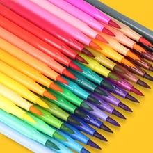 Soft-tip watercolor pen water-soluble children's color pen washable color brush pen kindergarten graffiti pen 36 colors