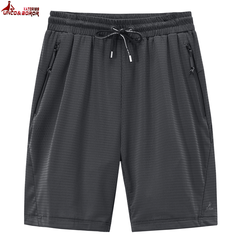 Big Size L~8XL Men`s Summer Running Workout Gym Training Shorts For Lightweight Breathable Quick Dry Mesh Beach Board Shorts Men