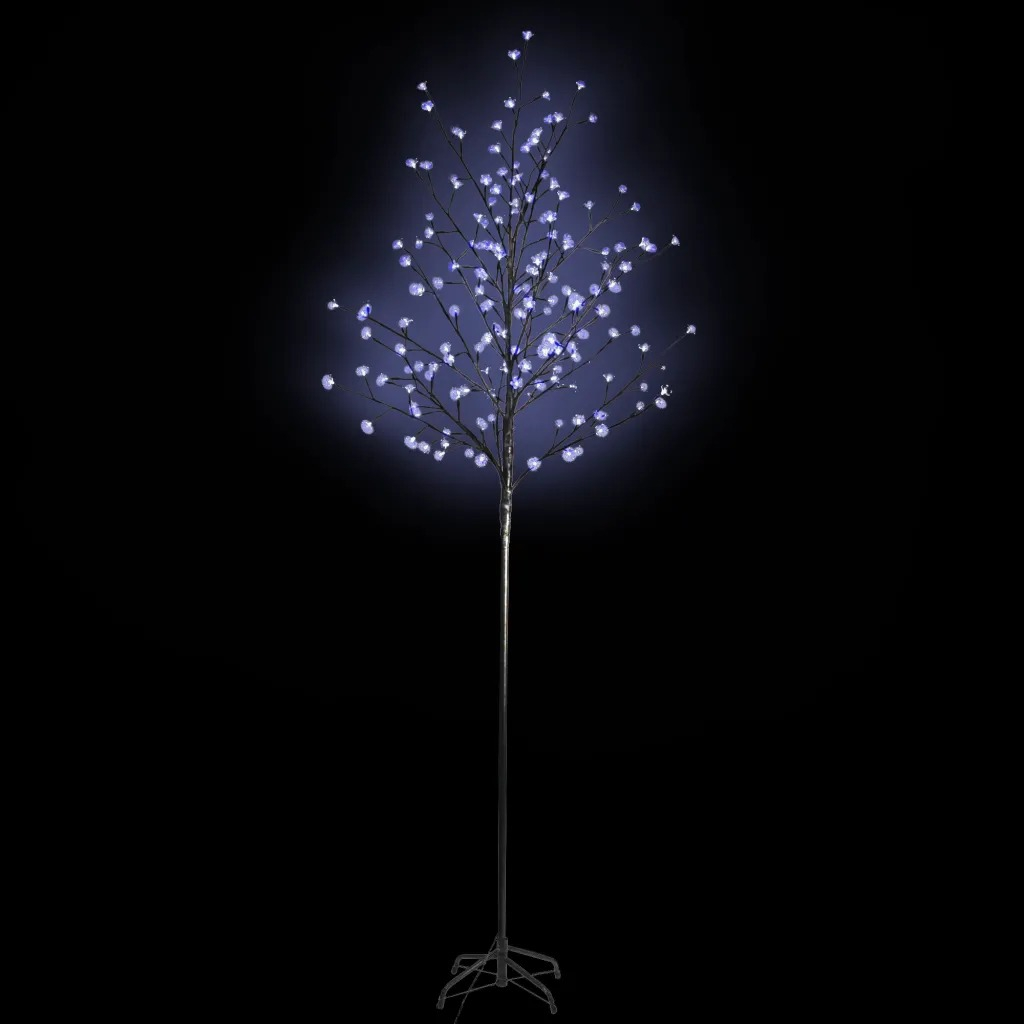 Novelty LED Light Tree Christmas Tree 180cm Night Light Blue Changing Lamp Christmas Tree Flower Star Decoration Home Party Gift