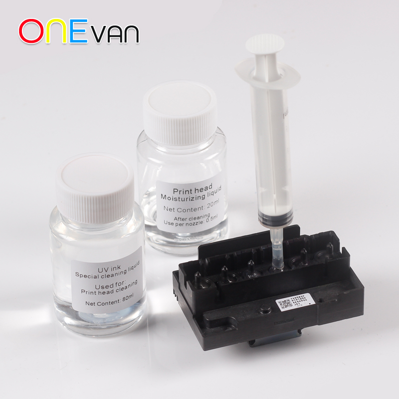 UV דיו מיוחד ניקוי נוזלי. הדפסת ראש נוזל לחות. Epson UV מדפסת זרבובית קרם לחות. למנוע ייבוש