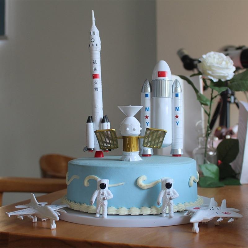 Fantastic Cake Topper Cake Decorating Supplies Space Shuttle Astronaut Personalised Birthday Cards Vishlily Jamesorg