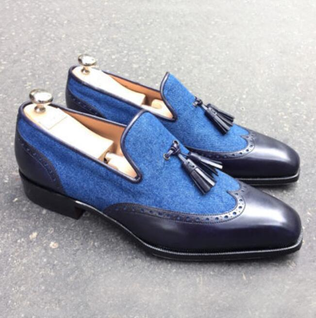 Men Leather Shoes Low Heel Casual Shoes Dress Shoes Brogue Shoes Spring Ankle Boots Vintage Classic Male Casual PS591