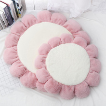 Warm Padded Flower Shape Dog Mat Bed Washable Pet House Kennel Round Floor Carpet Cushion