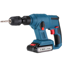 21V Electric Hammer Cordless Lithium-Ion Hammer Drill Electric Perforator impact hammer with LED light hammer drill electric redverg rd rh1500 power 1500 w drilling in concrete to 36mm антивибрационная system