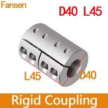 D40l45 acoplamento rígido 6.35mm impressoras 3d de alumínio eixo acoplador parafuso deslizante 5x8 acessórios do motor peças gravura cnc 1pc