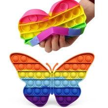 Motyl kolorowy Push Bubble Fidget Bubble Sensory Squishy Stress Reliever autyzm potrzebuje antystresowy Rainbow zabawki dla dorosłych