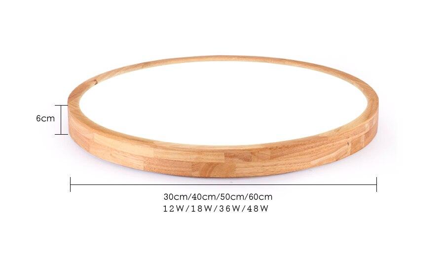 Luzes de teto de madeira natural nórdico