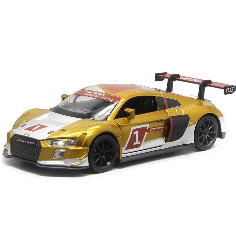 1:32 alta simulação versão pista liga r8 lms modelo de corrida rali supercar menino brinquedo carro aniversário crianças presente