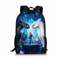 New Kids' Backpack How to Train Your Dragon Printed Backpack For Teenage Book Bag Polyester Travel Bags Children School Bag