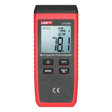 цена на UNI-T UT320A UT320D Digital Thermometer C/F Pyrometer dual-channel K/J thermocouple thermometer data to keep off automatically