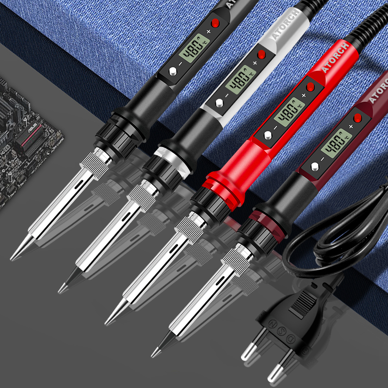 80W 110V/220V Electric Soldering Iron Temperature Adjustable Welding Solder Iron Rework Station Soldering Iron Accessories