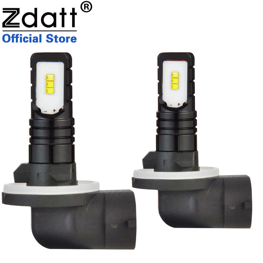 Zdatt Car LED Fog Light H4 LED H7 H8  880 881 H3 ZES 12000Lm Fog Lamp Day time Running Light Bulb Turning Parking Bulb 12V 60W
