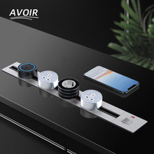 Avoir Track Socket In The Countertop Multi-purpose Meeting Tabletop Hidden Sockets Usb Wall Plug EU UK FR US Electrical Outlets