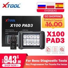 Programmatore chiave XTOOL X100 PAD3 per Toyota per strumento diagnostico Lexus OBD2 strumento di regolazione contachilometri immobilizzatore perso chiave