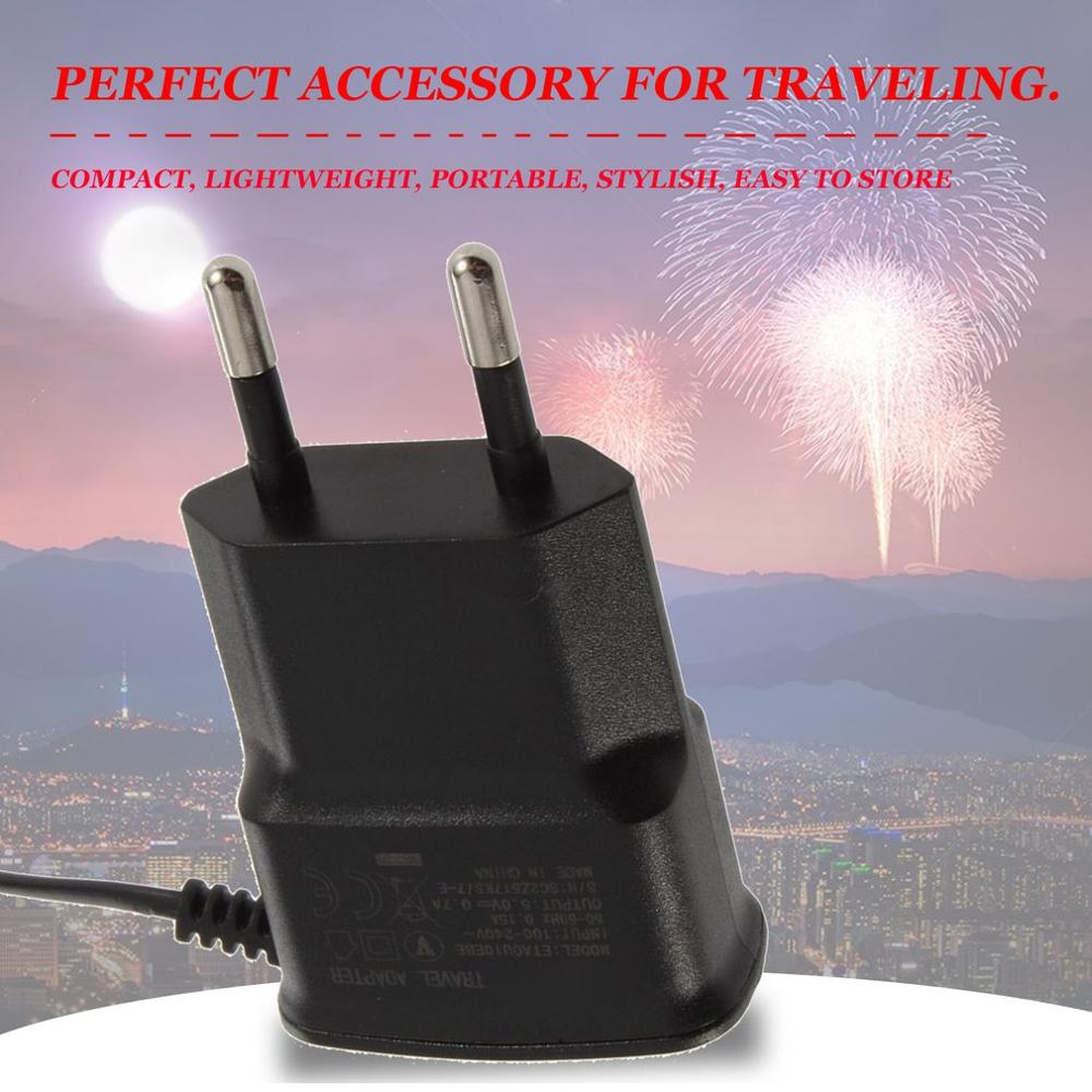 5V 1A Universal Mobile Charger EU Plug 110V-240V USB Charger Travel for Cell Phones Tablets Chargeable Devices For Travel Home