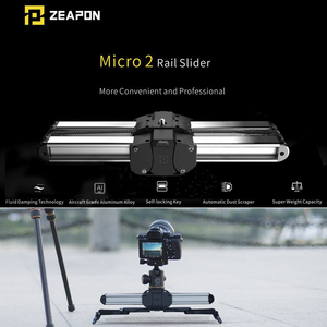 Image 1 - Zeapon מיקרו 2 מיני מחוון כפול מרחק נסיעות מסלול Slider דולי רכבת עבור iphone x Smartphone DSLR//ARRI מיני/אדום/BMCC