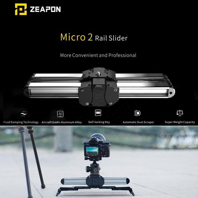 Zeapon מיקרו 2 מיני מחוון כפול מרחק נסיעות מסלול Slider דולי רכבת עבור iphone x Smartphone DSLR//ARRI מיני/אדום/BMCC