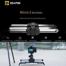 Zeapon mikro 2 mini kaymak çift mesafe seyahat parça kaymak Dolly ray iphone x Smartphone için DSLR//ARRI Mini/Kırmızı/BMCC