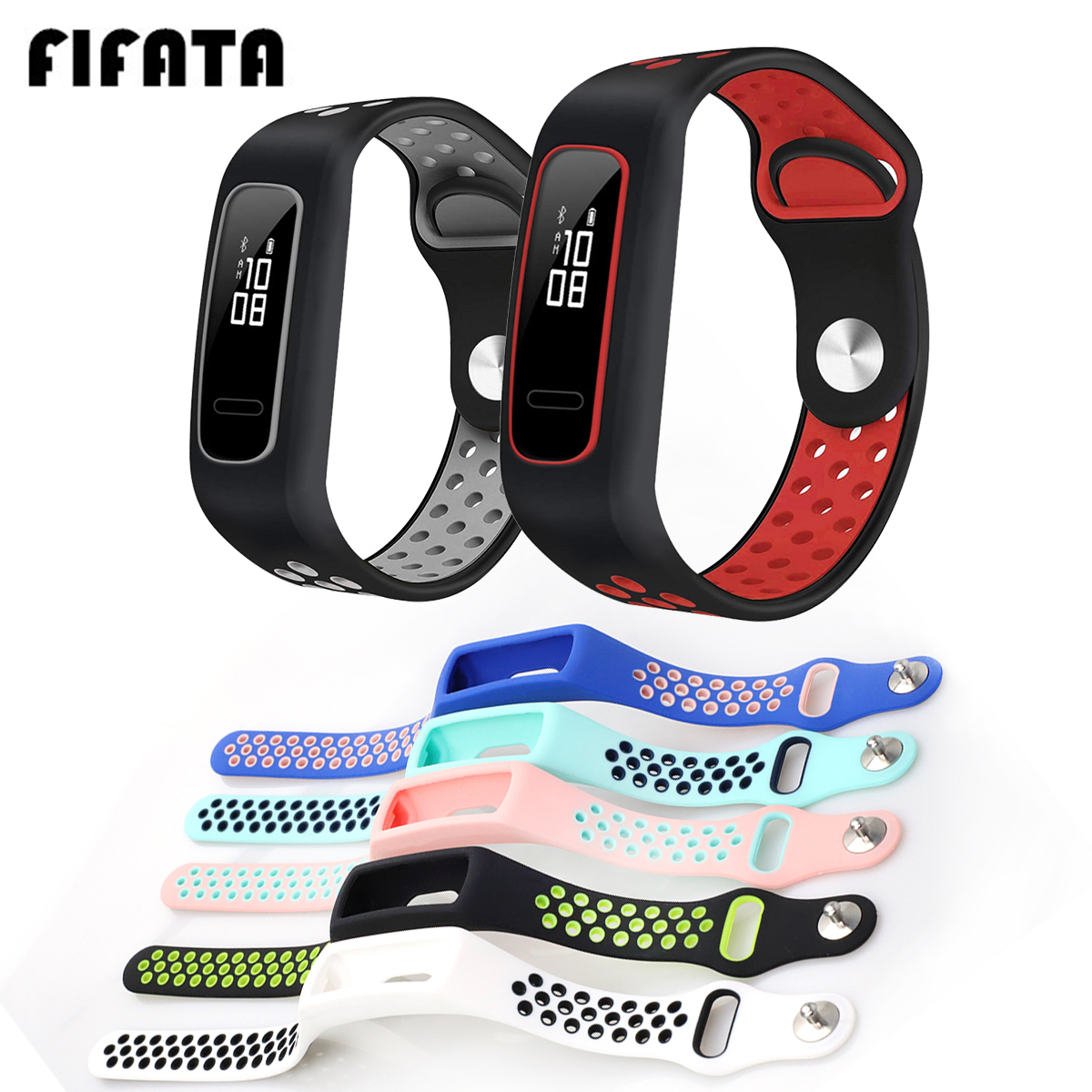 FIFATA For Huawei Honor Band 4 Running Strap Silicone Sport Bracelet For Huawei Band 4e Basketball Elf Wristband For Huawei 3E