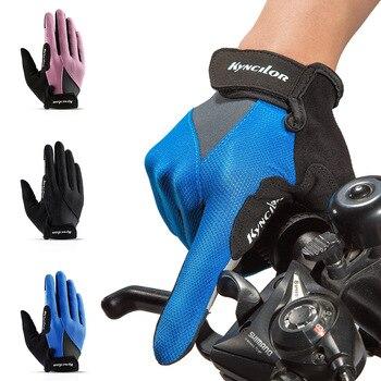 Guantes Mtb Largos de bicicleta Guantes de Gel de dedo completo antideslizantes...