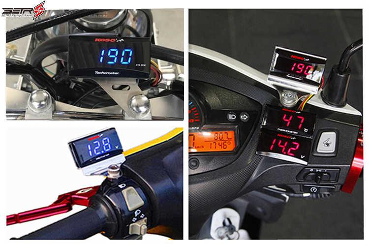 Sepeda Motor Counter RPM Meter Cafe Racer Dio Tachometer Digital Koso Mini Square Display Gauge untuk Yamaha NVX NMAX Buku 300 400