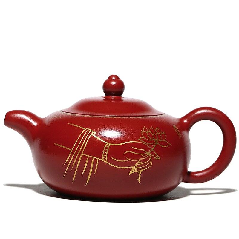 Большой красный мешочек грязи бергамота Ваню чай горшок Исин фиолетовая глина для китайского чая кунг фу горшки 230 мл