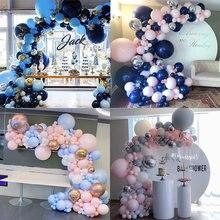 Королевский синий гирлянда шар в форме арки комплект конфетти