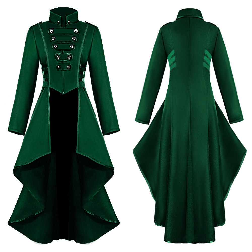 Hb065605558044f77a8fbf112870f259ek Women Halloween Jackets Gothic Steampunk Button Lace Corset Casual Halloween Costume Coat Tailcoat Jacket dropshipping