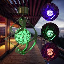 TWISTER. CK Солнечная энергия изменение цвета ветра колокольчик форма подвесной светильник для сада